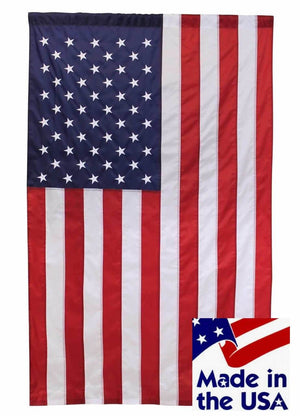 2.5' x 4' American House Flag with Pole Sleeve Sewn Nylon