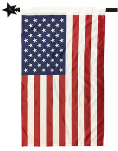 2.5' x 4' American House Flag with Pole Sleeve