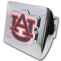 Auburn University Navy Shiny Chrome Hitch Cover