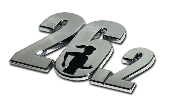 26.2 Chrome Car Emblem with Female Runner