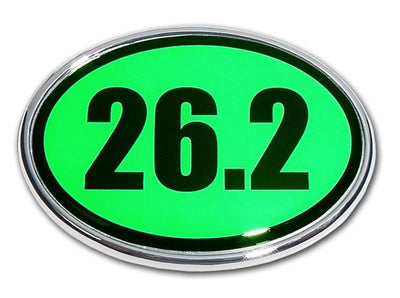 26.2 Marathon Green and Chrome Car Emblem
