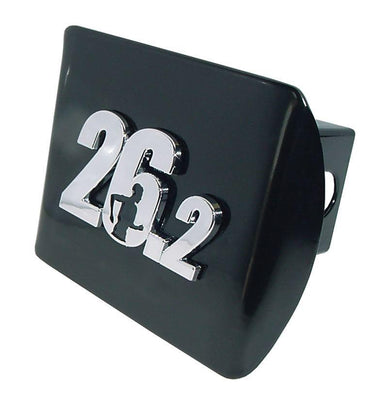 26.2 Marathon Runner Black Hitch Cover