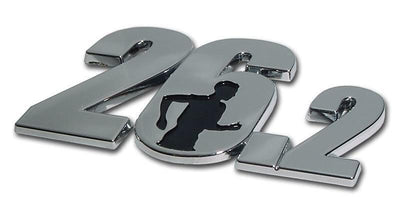 26.2 Chrome Car Emblem with Male Runner