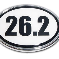 26.2 Marathon Chrome Car Emblem