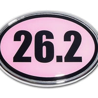 26.2 Marathon Pink and Chrome Car Emblem