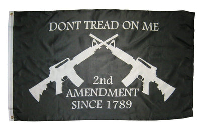 2nd Amendment Don't Tread On Me M-4 Rifles Black 3x5 Flag