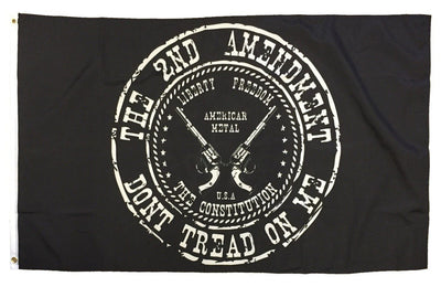 2nd Amendment Don't Tread On Me Revolvers Black 3x5 Flag