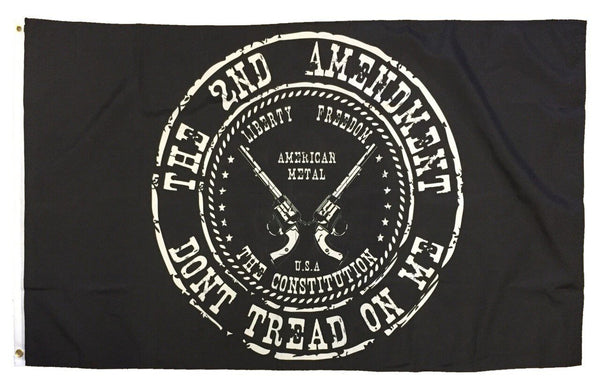 2nd Amendment Don't Tread On Me Revolvers Black 3x5 Flag - Novelty Flags - I AmEricas Flags