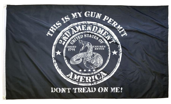 2nd Amendment Gun Permit 3x5 Flag - I AmEricas Flags