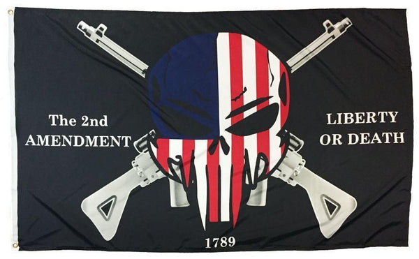 2nd Amendment Punisher Skull 3x5 Flag - Novelty Flags - I AmEricas Flags