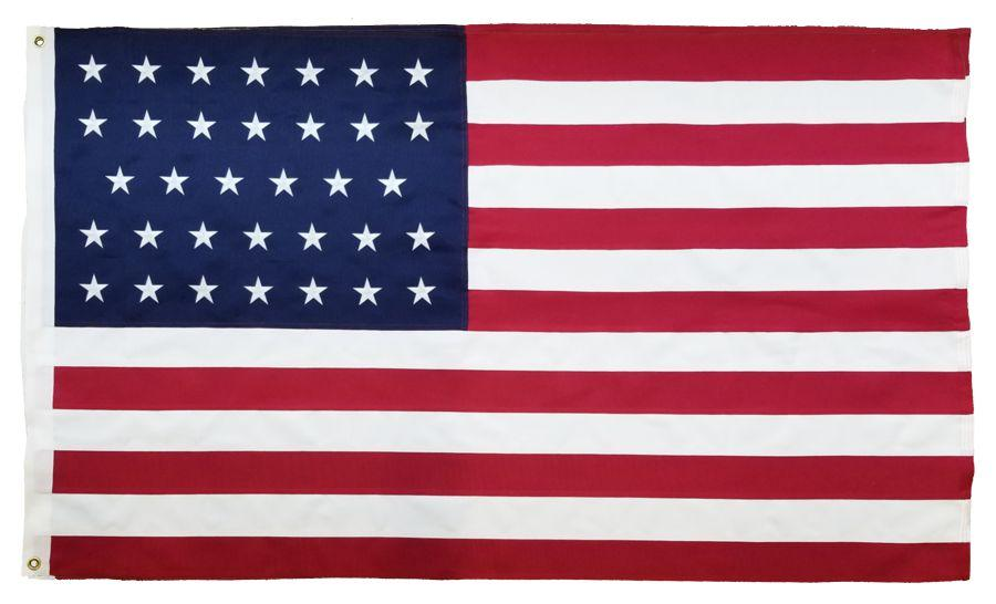 34 Star American Flag 3x5 2-Ply Polyester
