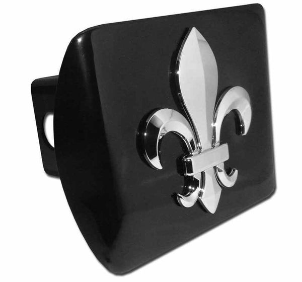 3D Fleur de Lis Black Hitch Cover