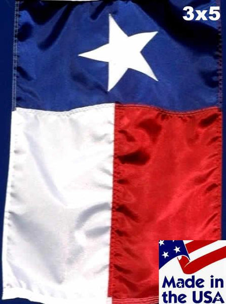 3x5 Texas House Flag with Pole Sleeve Sewn Nylon - Texas Flags - I AmEricas Flags