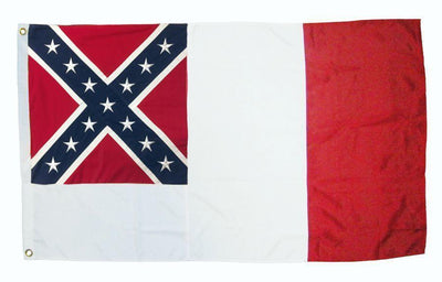 3rd National Confederate Flag 3x5 2-Ply Polyester