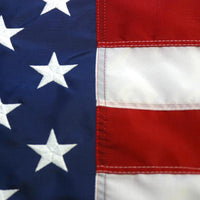 American Flag with Embroidered Stars