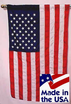 3x5 American House Flag with Pole Sleeve Sewn Nylon