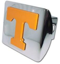 University of Tennessee Orange T Shiny Chrome Hitch Cover