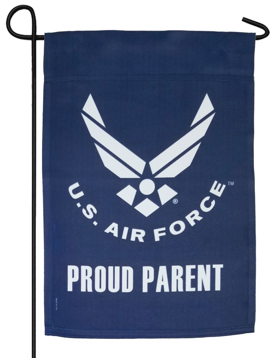 Air Force Proud Parent Sublimated Garden Flag