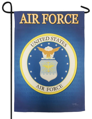 Air Force Seal Sublimated Garden Flag