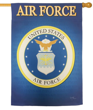 Air Force Seal Sublimated House Flag