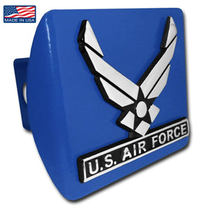 Air Force Wings Blue Hitch Cover