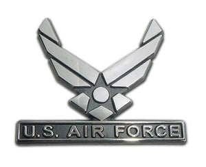 Air Force Wings Chrome Car Emblem