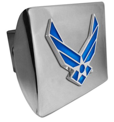 Air Force Wings Premium Chrome Hitch Cover