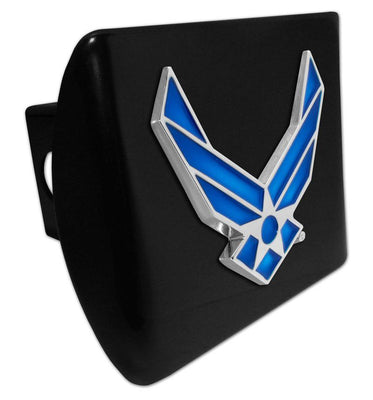 Air Force Wings Premium Emblem Black Hitch Cover