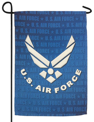 Air Force Wings Sublimated Garden Flag