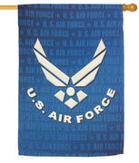Air Force Wings Sublimated House Flag