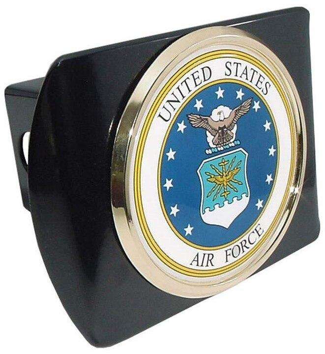 Air Force Seal Black Hitch Cover