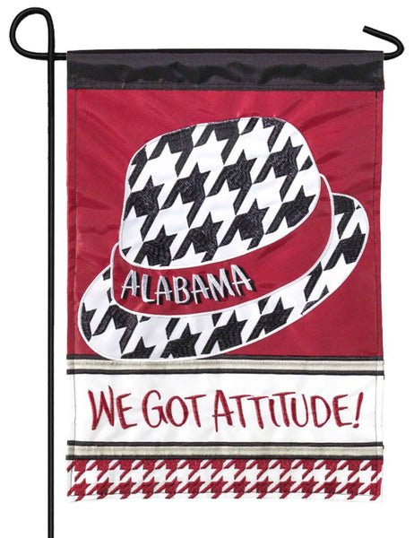 Alabama Houndstooth Double Applique Garden Flag