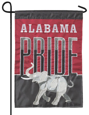 Alabama Pride Double Applique Garden Flag