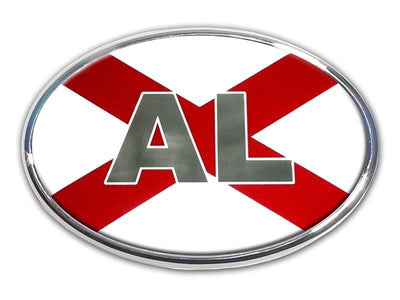 Alabama Chrome and Color Oval Car Emblem