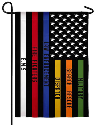 All Responders Thin Line Suede Reflections Garden Flag
