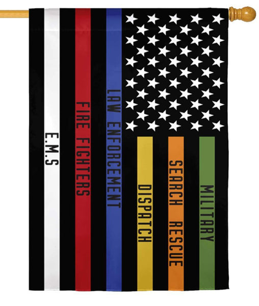 All Responders Thin Line Suede Reflections House Flag