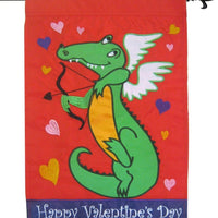 Alligator Cupid Double Applique House Flag