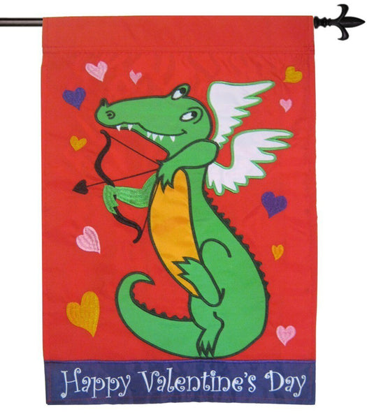 Alligator Cupid Double Applique House Flag - I AmEricas Flags