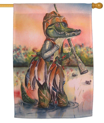 Alligator Hunting Duck House Flag