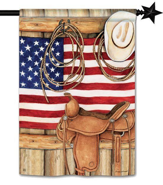 American Cowboy House Flag - All Decorative Flags/Themes/Country Farmhouse and Western Flags - I AmEricas Flags