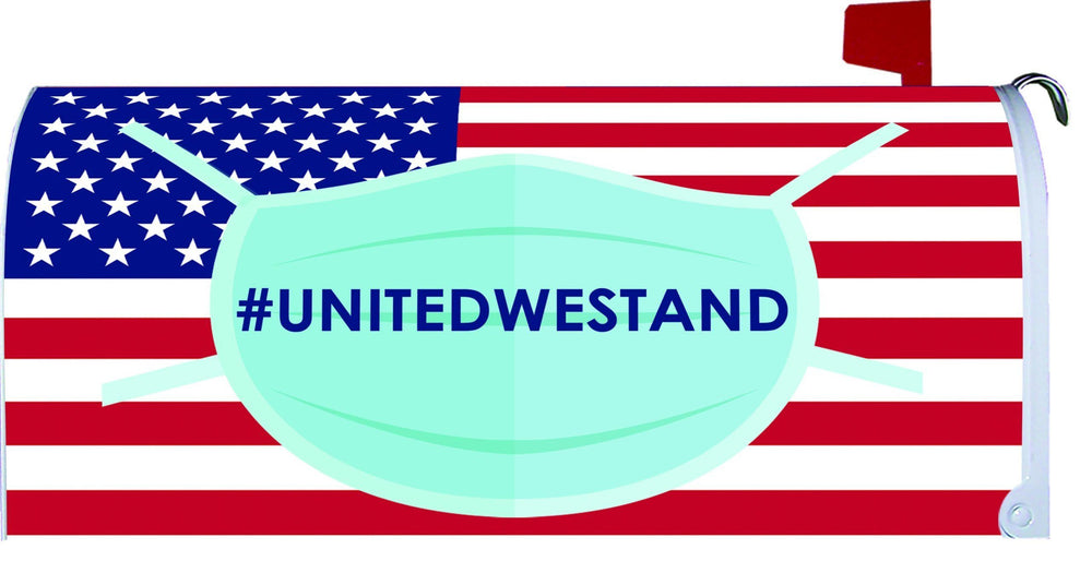 Unitedwestand American Flag And Mask Mailbox Cover I Americas Flags