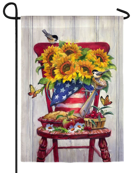 American Sunflowers Textured Suede Reflections Garden Flag NEWPRODUCT - I AmEricas Flags