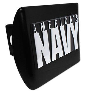 America's Navy Black Hitch Cover