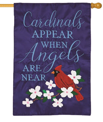 Angels Are Near Applique House Flag