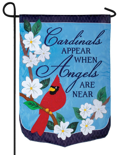 Angels Are Near Double Applique Garden Flag