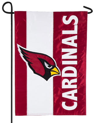 Arizona Cardinals Embellished Applique Garden Flag