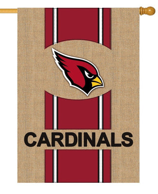 Arizona Cardinals Burlap House Flag