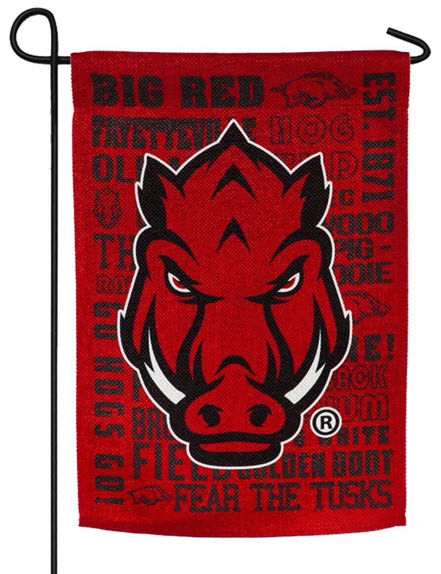 Arkansas Razorbacks 2 Sided Suede Reflections Garden Flag