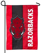 Arkansas Razorbacks Embellished Applique Garden Flag