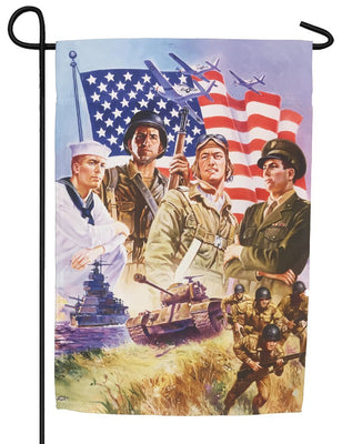 The Armed Forces Sublimated Garden Flag